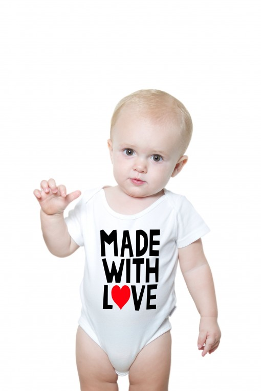 Baby romper Made with love