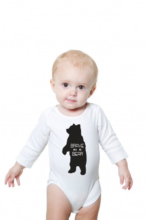 Baby romper Brave as a bear