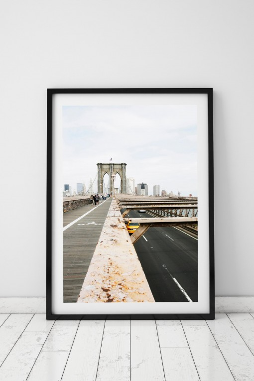 Poster with frame Brooklyn Bridge - NYC - USA By Emmanuel Catteau ...