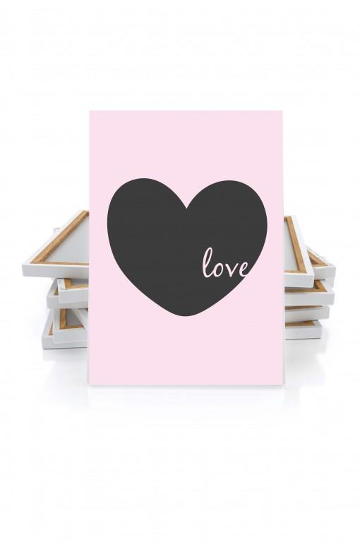 Canvas Love Heart