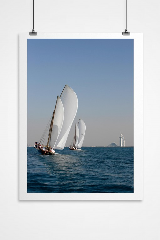 K. Poster Traditional Boat Race - Dubai - UAE By Emmanuel Catteau