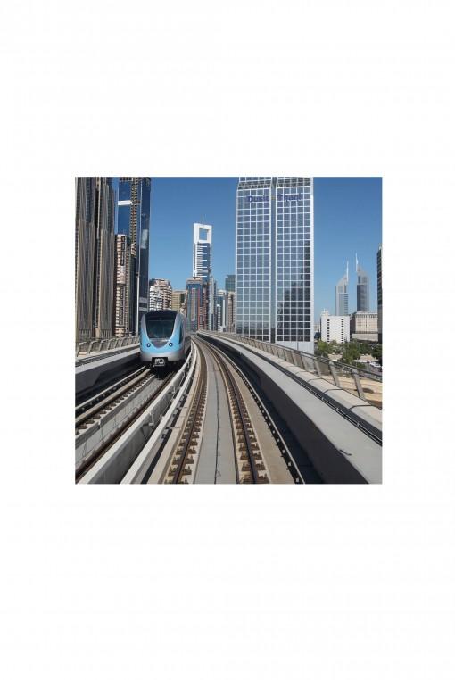 Poster Dubaï Metro - By Emmanuel Catteau