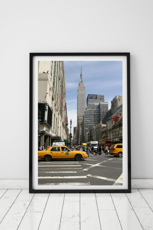Poster with frame Empire State Building - NYC - USA By Emmanuel ...