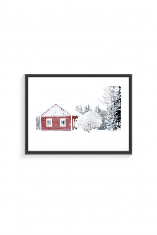 Poster with frame Freezing Winter - Finland - By Emmanuel Catteau