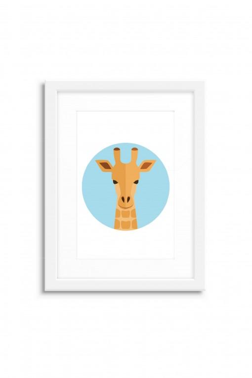 Poster with frame Giraffe