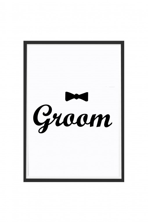 Poster with frame Groom