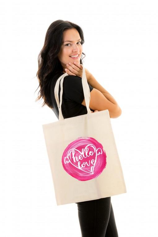 Tote bag Hello Love