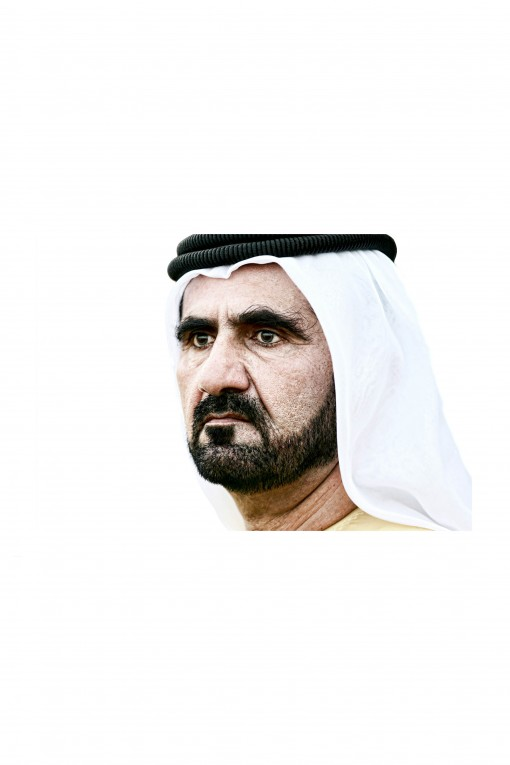 A. Aluminium Frame His Highness Sheikh Mohammed By Emmanuel Catteau