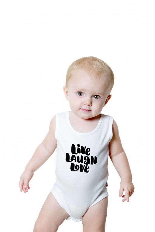 Baby romper Live Laugh Love