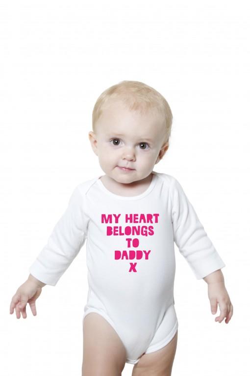 Baby romper My Heart Belongs To Daddy