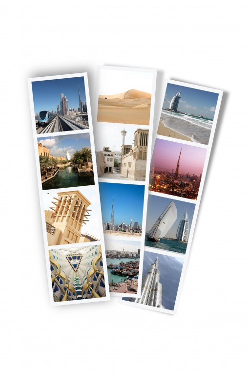 Set of 3 photo stripes Dubaï by Emmanuel Catteau