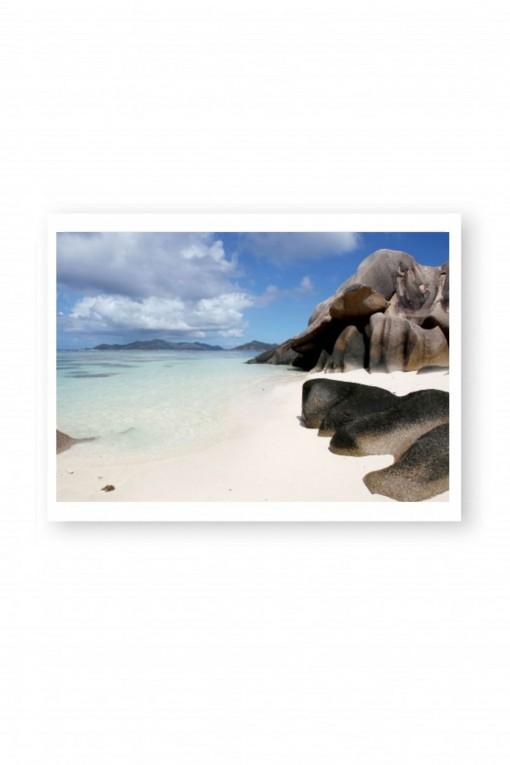 Poster Anse Source d'Argent - Seychelles By Emmanuel Catteau