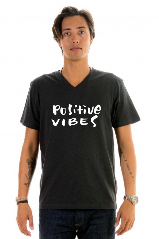 T-shirt v-neck Positive vibes