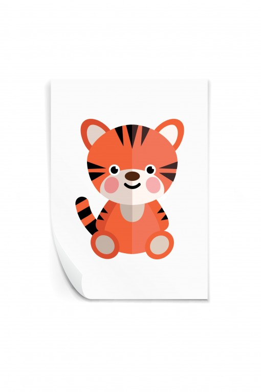 Reusable sticker Baby Tiger