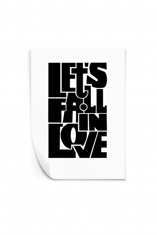 Reusable sticker Let's fall in love