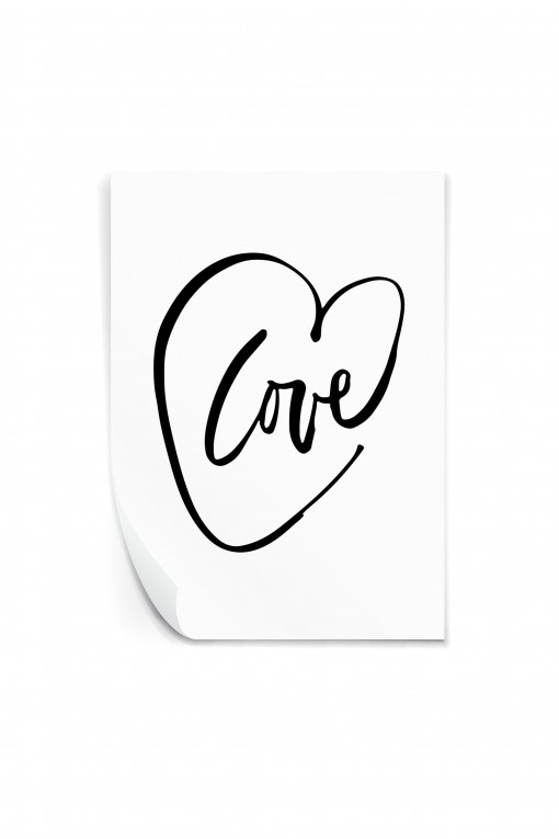 Reusable sticker LOVE