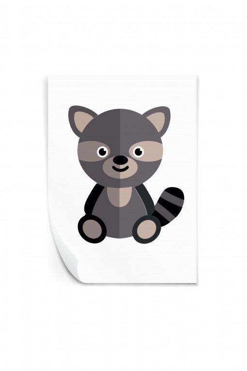 Reusable sticker Raccoon