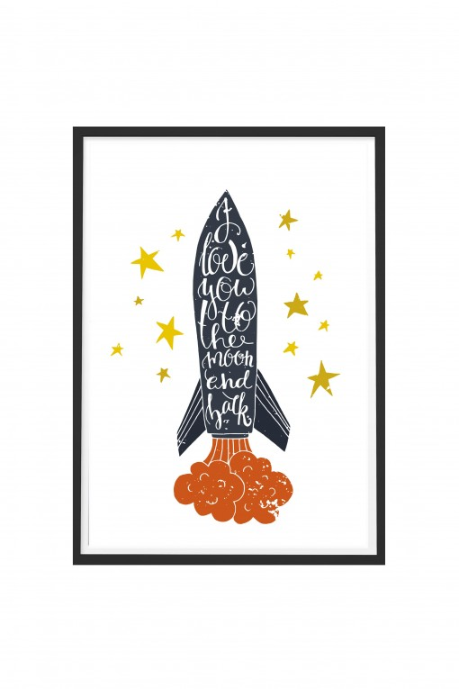 Poster with frame Rocket