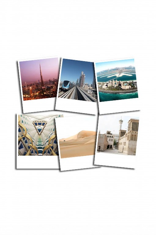 Set of 12 vintage pictures Dubaï by Emmanuel Catteau