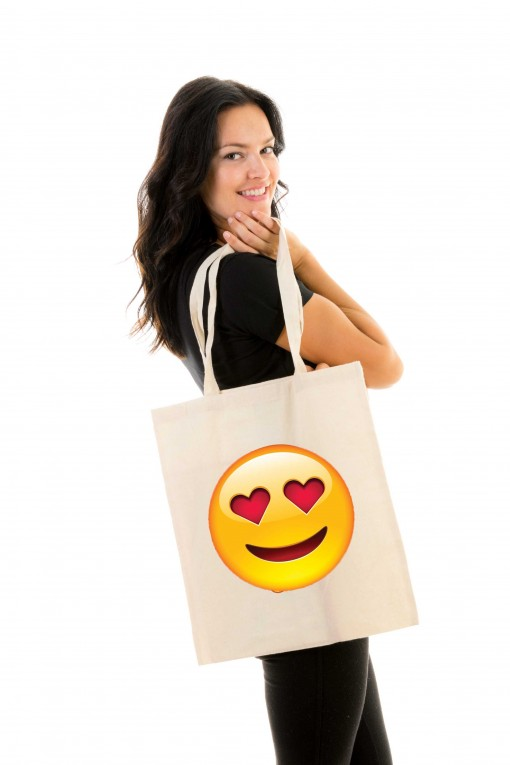 Tote bag Smiley Love
