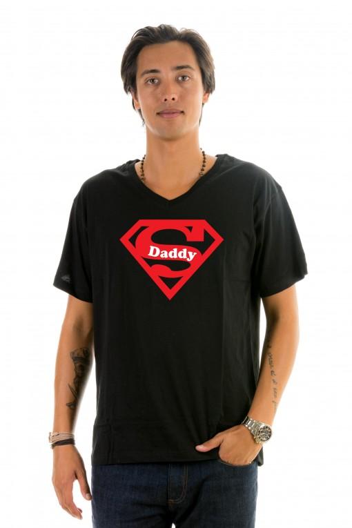 T-shirt v-neck Super Daddy