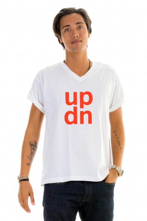 T-shirt v-neck UPDN