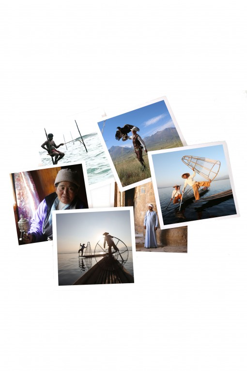 Set of 12 square pictures People by Emmanuel Catteau