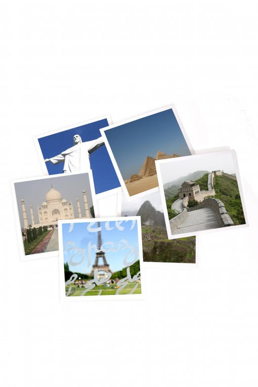 Set of 12 square pictures Wonders Of the World by Emmanuel Catteau