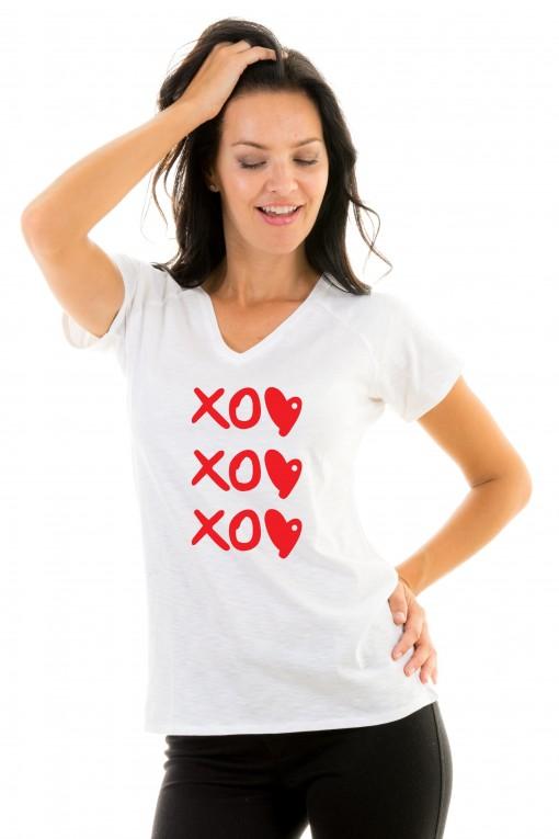 T-shirt v-neck XOXOXO