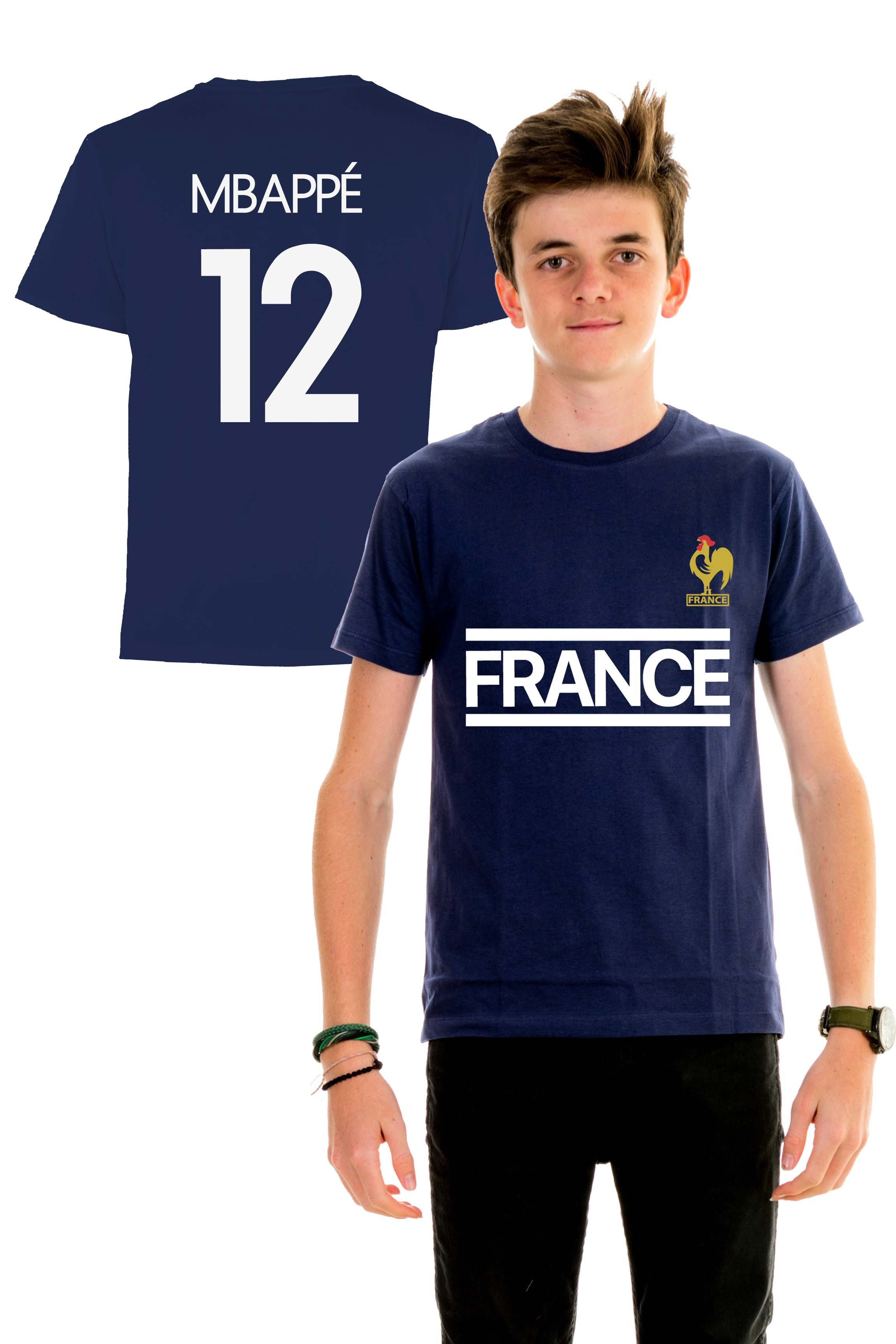 buy popular cb7a6 80cf8 T-shirt World Cup 2018 - France, Mbappé 12