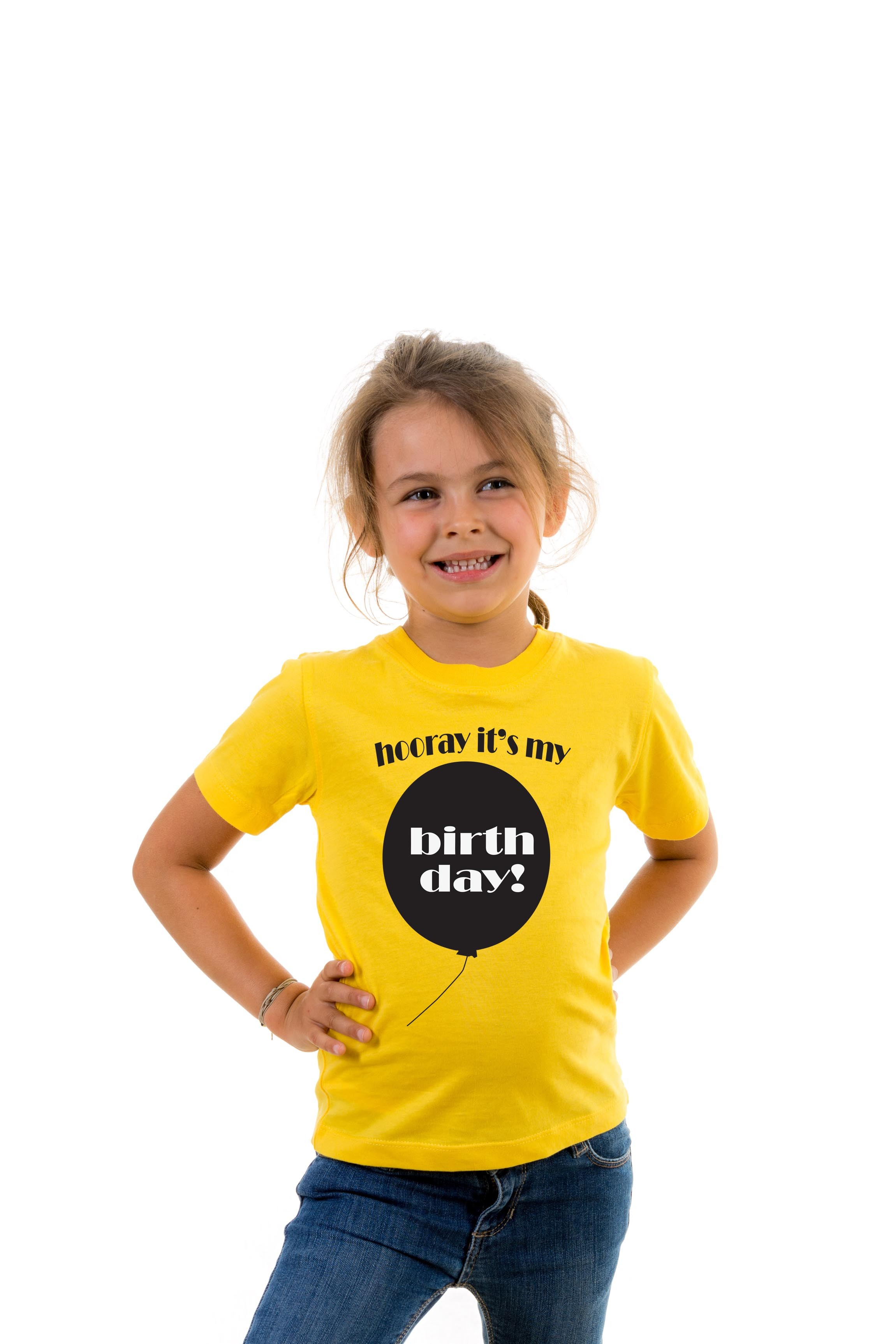 T Shirt Kid Hooray It S My Birthday Birthday Celebrations