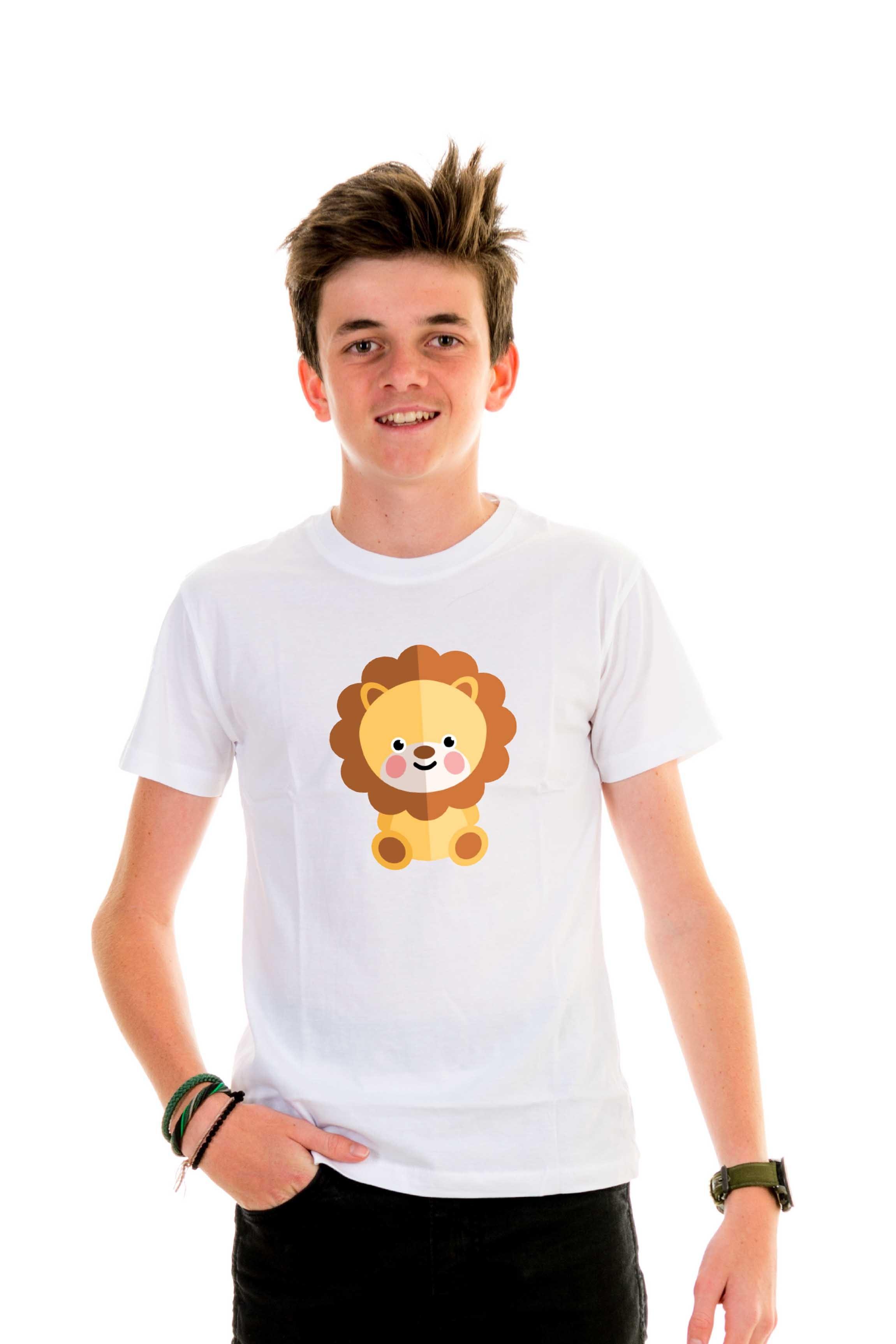 lion t shirt kids