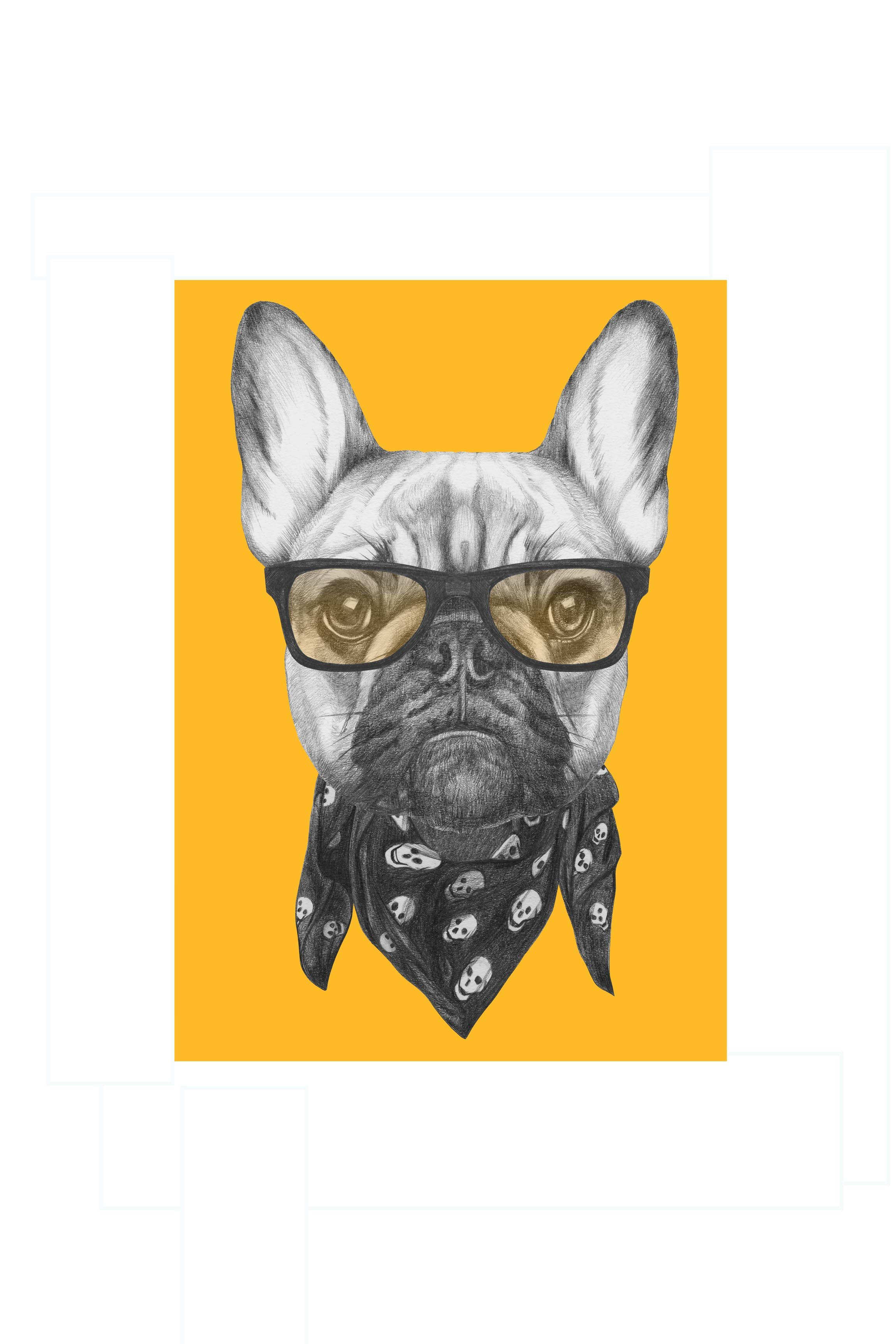 Poster Dog With Style - Posters - Wall art prints - Shop