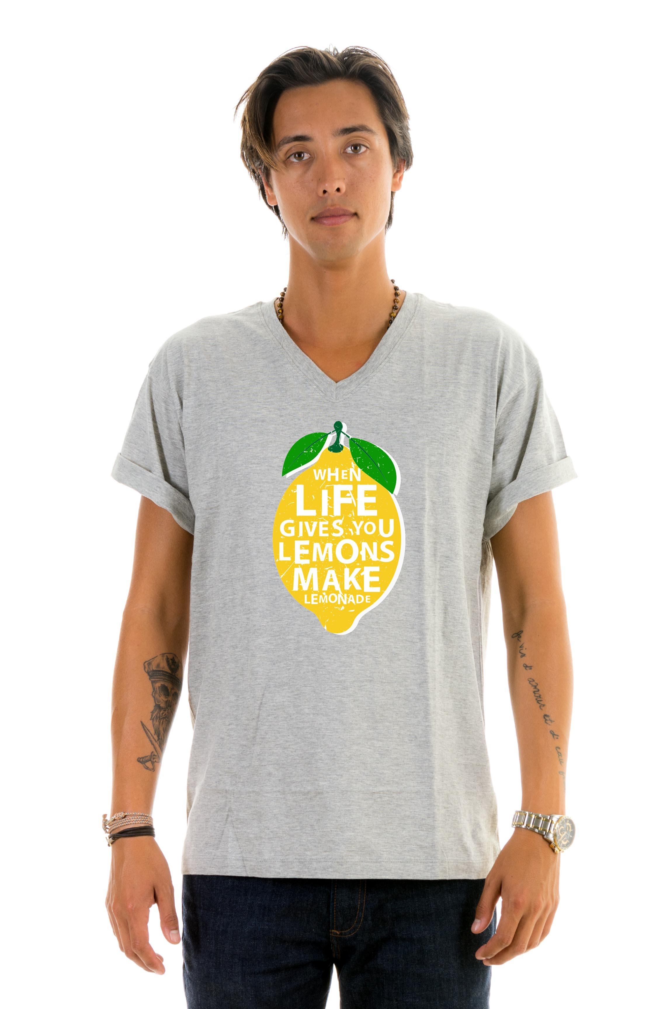 94367278f566 T-shirt v-neck Lemon Lemonade - T-shirts - Shop
