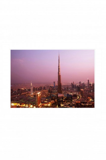 Poster Burj Khalifa Night By Emmanuel Catteau