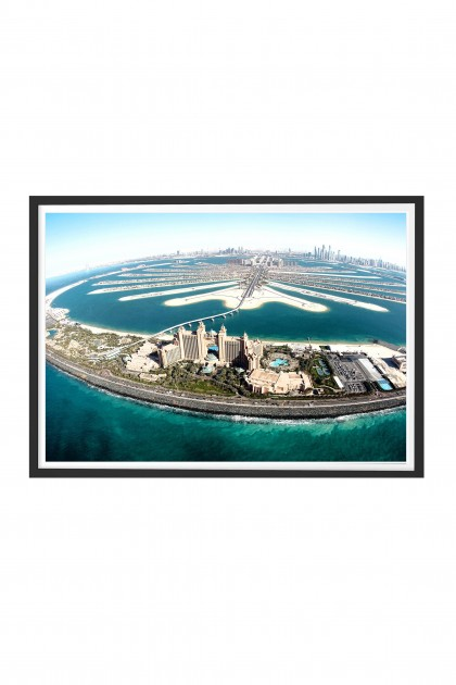 Poster with frame Palm Jumeirah By Emmanuel Catteau