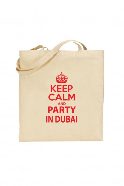 Tote bag Keep Calm And Party In Dubai