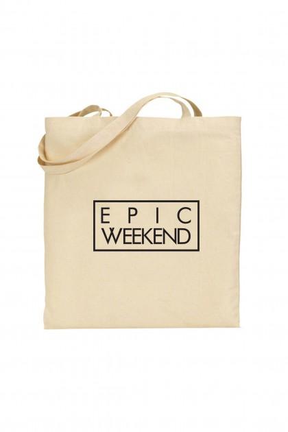 Tote bag Epic Week-end