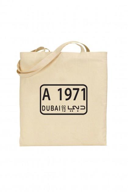 Tote bag Dubai Plate 1971