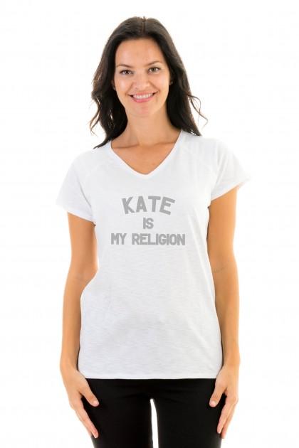 T-shirt v-neck Kate Is My Religion