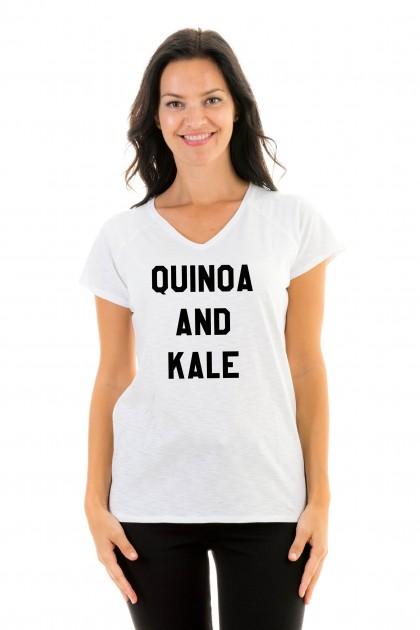T-shirt v-neck Quinoa and kale
