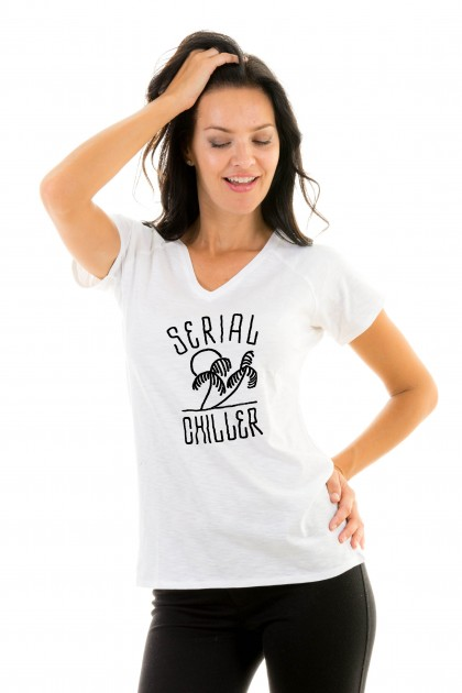 T-shirt v-neck Serial Chiller
