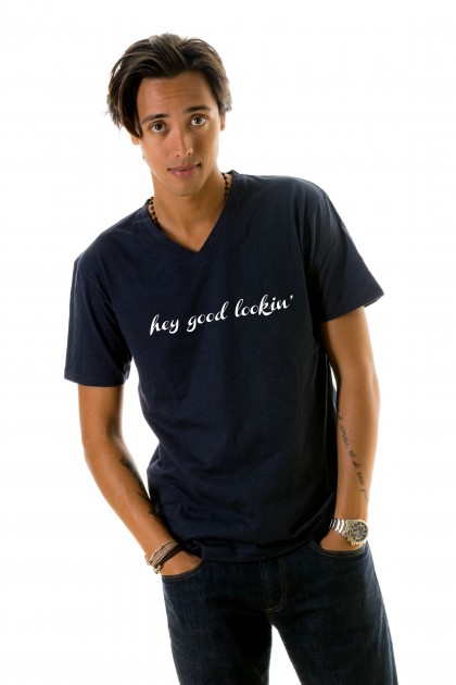 T-shirt v-neck Hey Good Lookin'