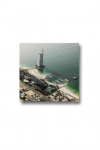 Canvas Aerial View of Burj Al Arab - Dubai - UAE By Emmanuel Catteau