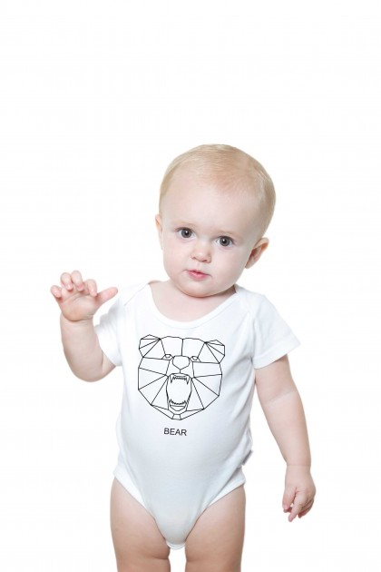 Baby romper Geometric Bear