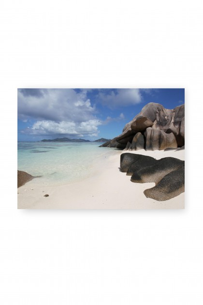 Canvas Anse Source d'Argent - Seychelles - By Emmanuel Catteau