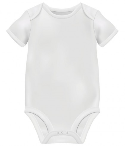 Baby romper for Custom - White - Starting 65 AED