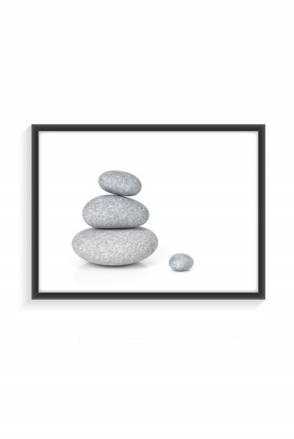 Poster with frame Balance Stone By Emmanuel Catteau