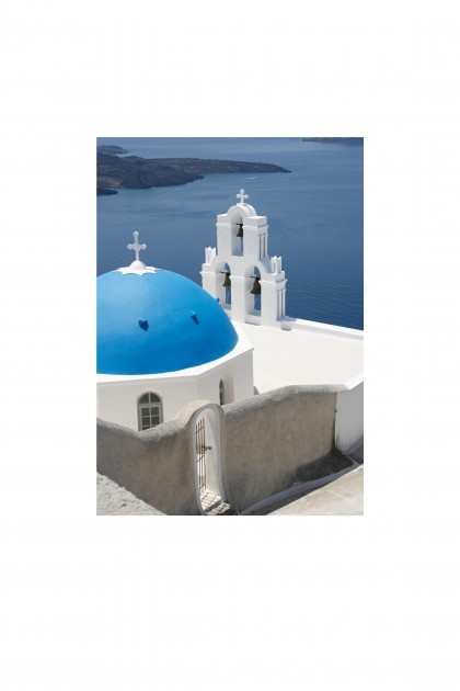 Poster Santorini Church- Greece - By Emmanuel Catteau