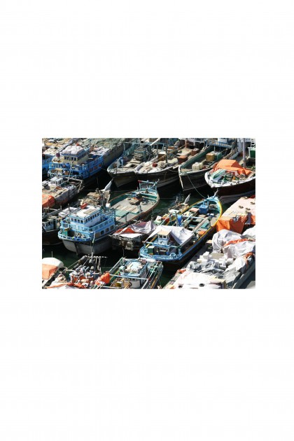 Poster Boats On The Creek - Dubai - UAE By Emmanuel Catteau